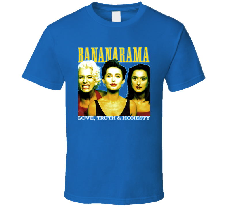 Bananarama Love Truth Honesty Retro Music Band T Shirt