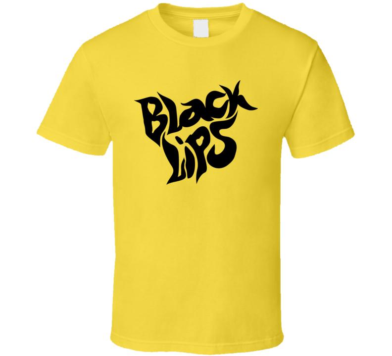 Black Lips Music Flower Punk Band Logo T Shirt
