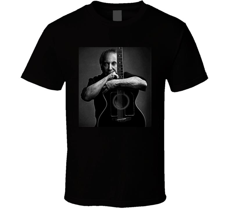 Paul Simon Music Folk Legend Retro Guitar T Shirt