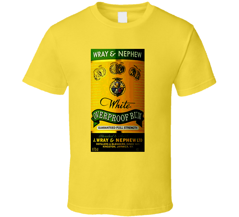 Wray And Nephew Over Proof Jamaican Rum T Shirt