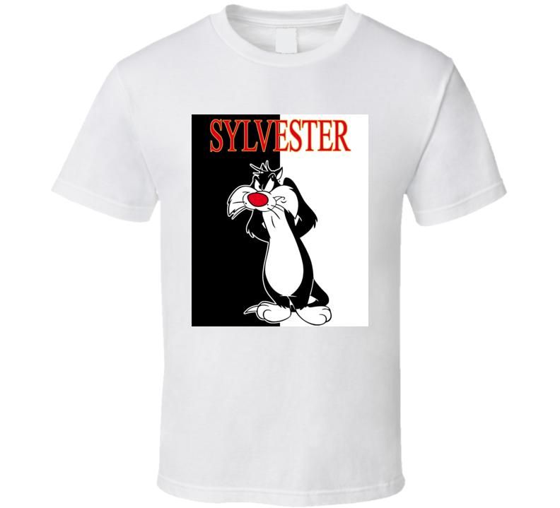 Sylvester The Cat Cartoon Retro Cute T Shirt