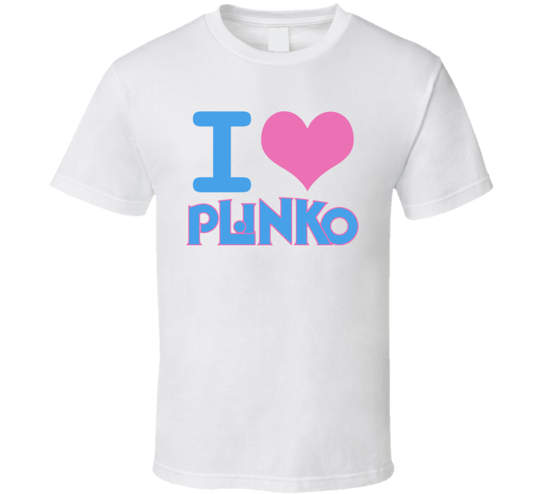 I Heart Plinko Price Is Right Game Show T Shirt