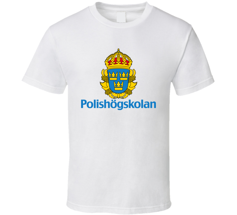 Sweden Police Logo Polishogskolan Cool T Shirt