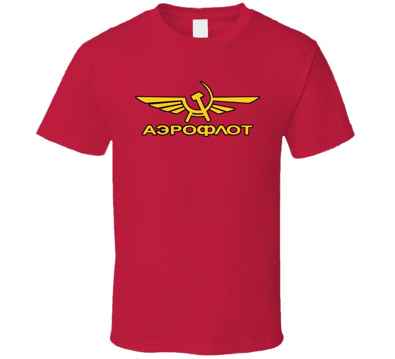 Soviet Airlines USSR Russia Aeroflot Moscow T Shirt