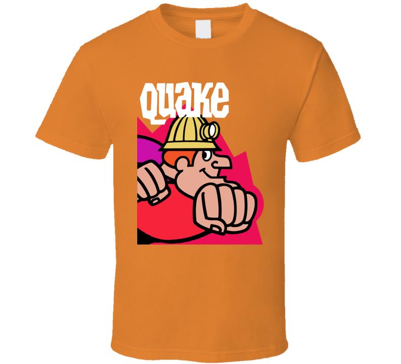 Quake Cereal Box Retro Funny Joke Power T Shirt
