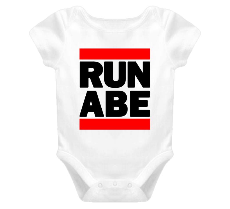 RUN ABE RAP RETRO BABY ONE PIECE T SHIRT