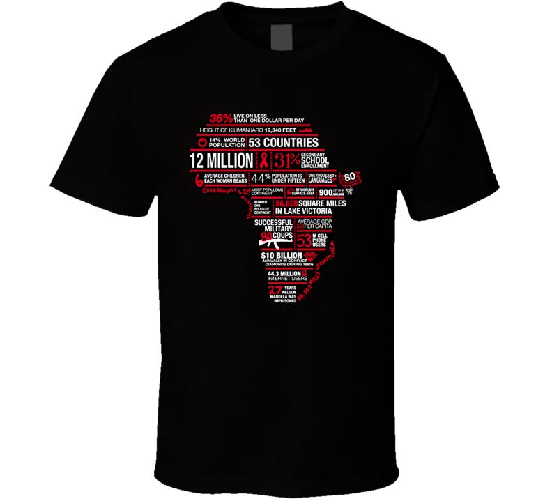 Africa Modern Facts Humanitarian Charity T Shirt