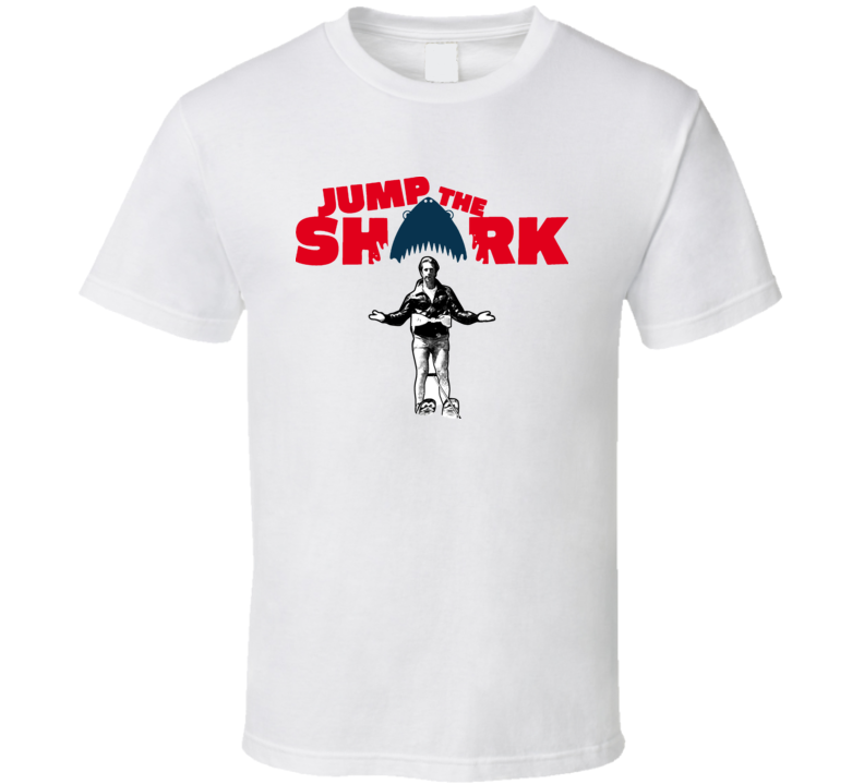 Fonzie Happy Days Jump the Shark Retro TV T Shirt