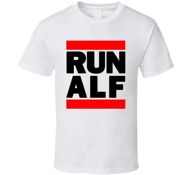 RUN ALF RETRO RAP HIP HOP WHITE T SHIRT