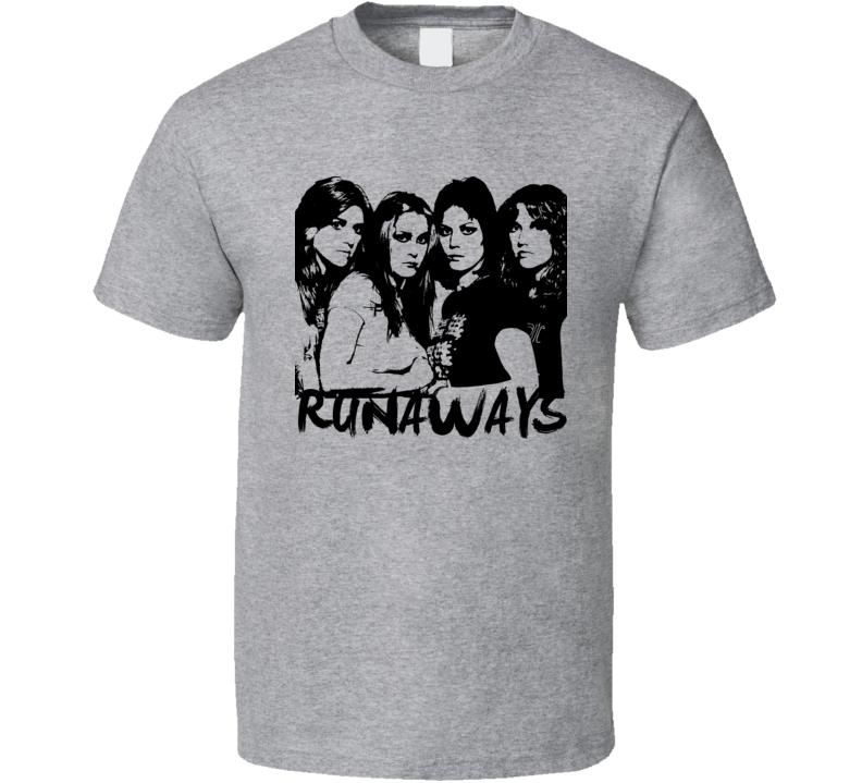 Joan Jett Rocker Runaways 80s Retro Rock N Roll T Shirt