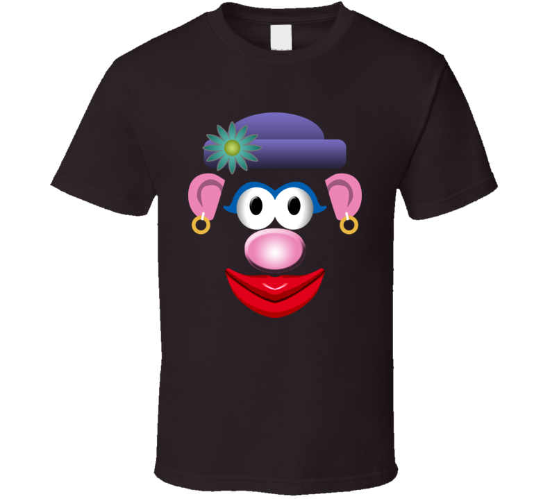 Mrs Potato Head Toy Face T Shirt
