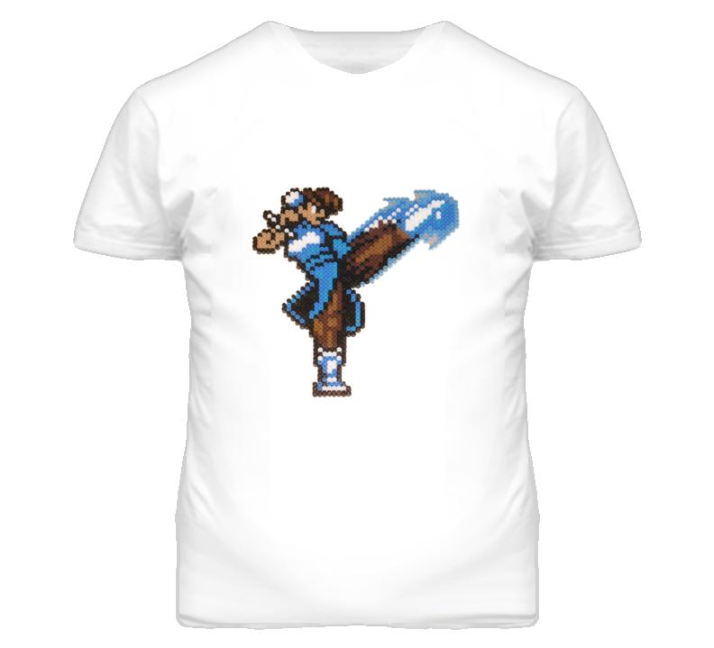 Chun Li Pixel Lightning Kick T Shirt
