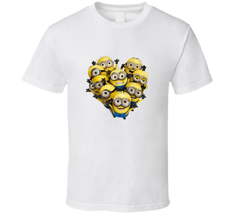 Minion heart shape T-shirt
