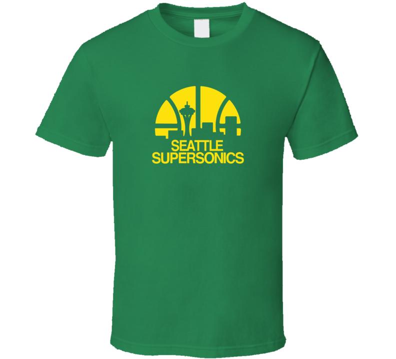 Retro Super Sonics  T Shirt