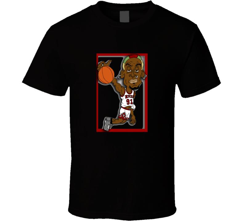 Dennis Rodman 91 Retro T Shirt