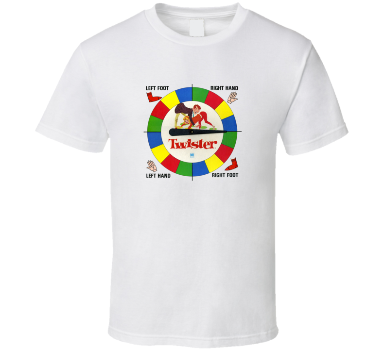 Old School Funy Twister Board Game T Shirt