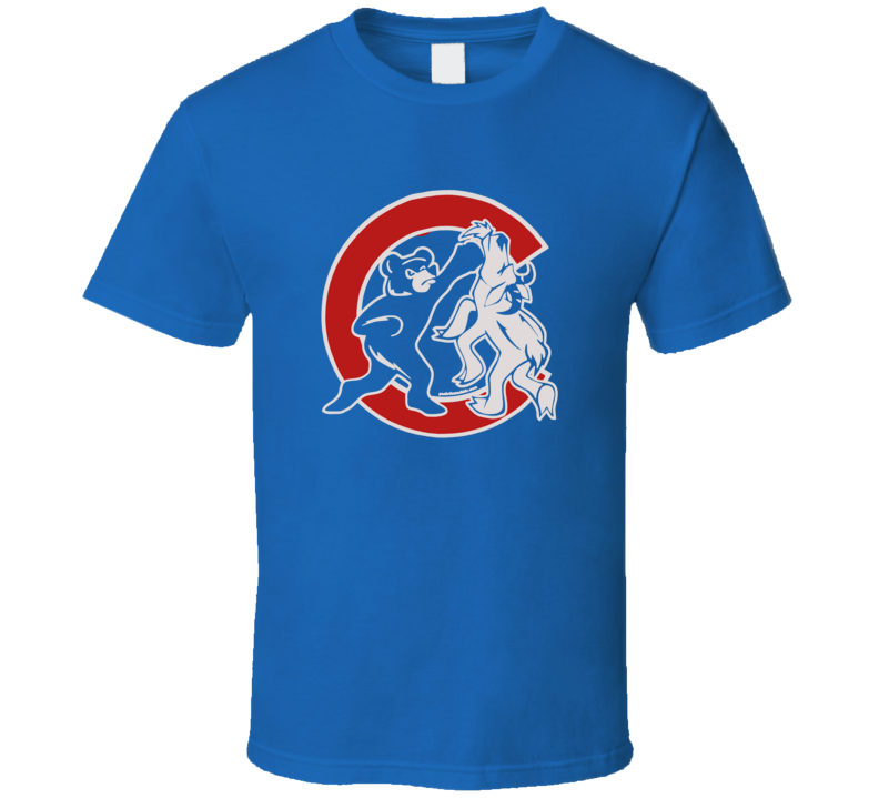 The Curse is broken Chicago Cubs punching the goat World Series T Shirt