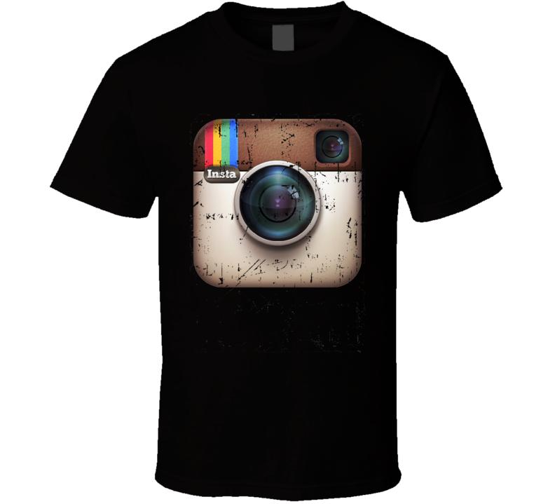 Instagram Retro Logo App Grunge T Shirt