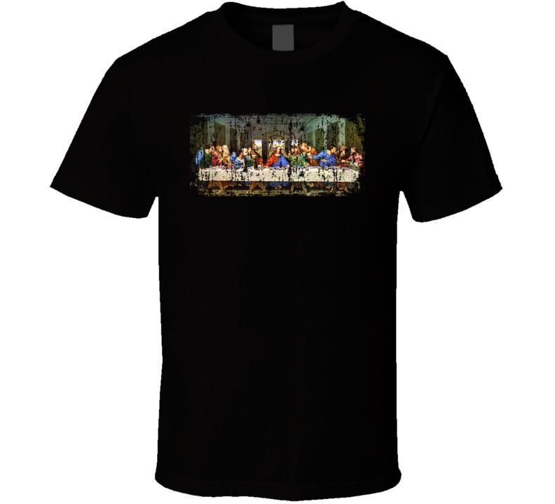 Jesus Last Supper Poster Grunge T Shirt