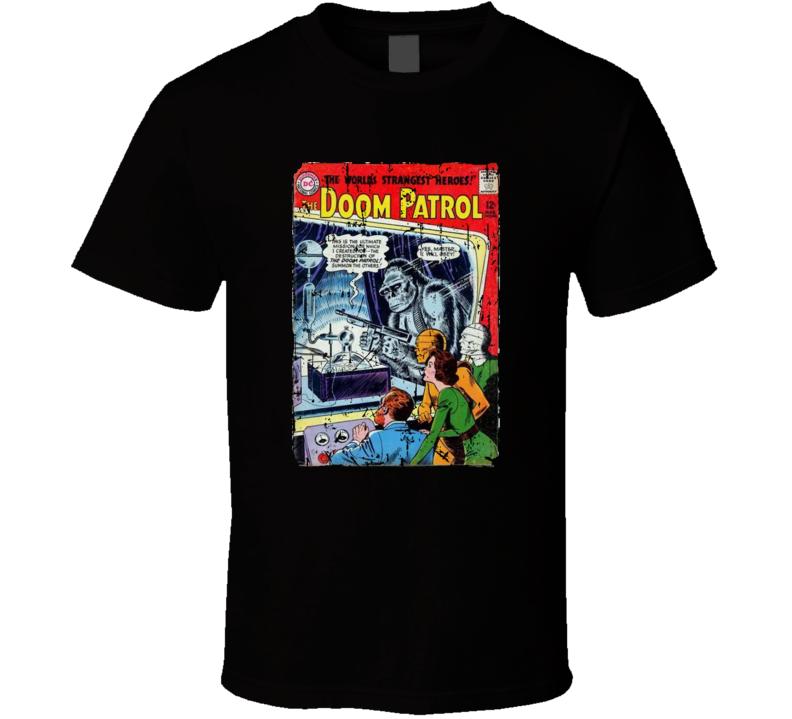 Doom Patrol Comic Book Distressed T-shirt