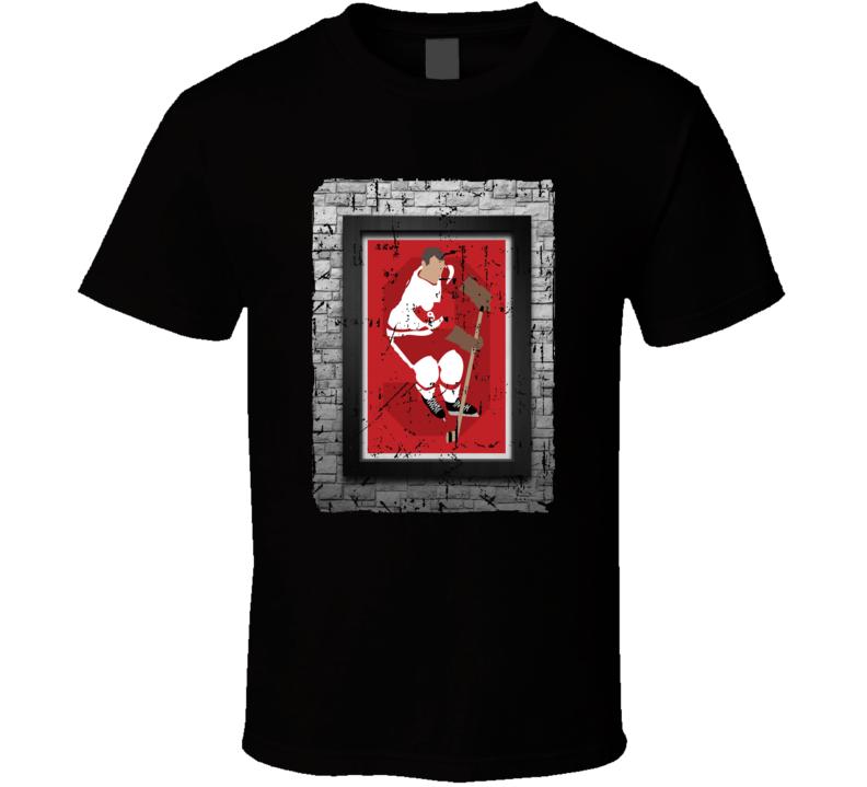 Gordie Howe Cartoon Sketch T-shirt