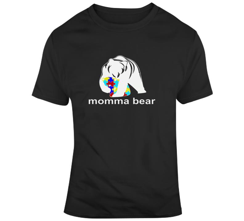 Momma Bear Autism Awareness T-shirt