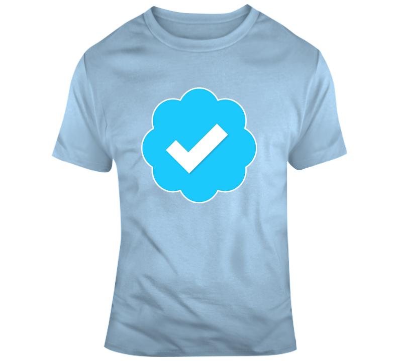 Cool Verified Twitter Instagram Logo Badge T-shirt