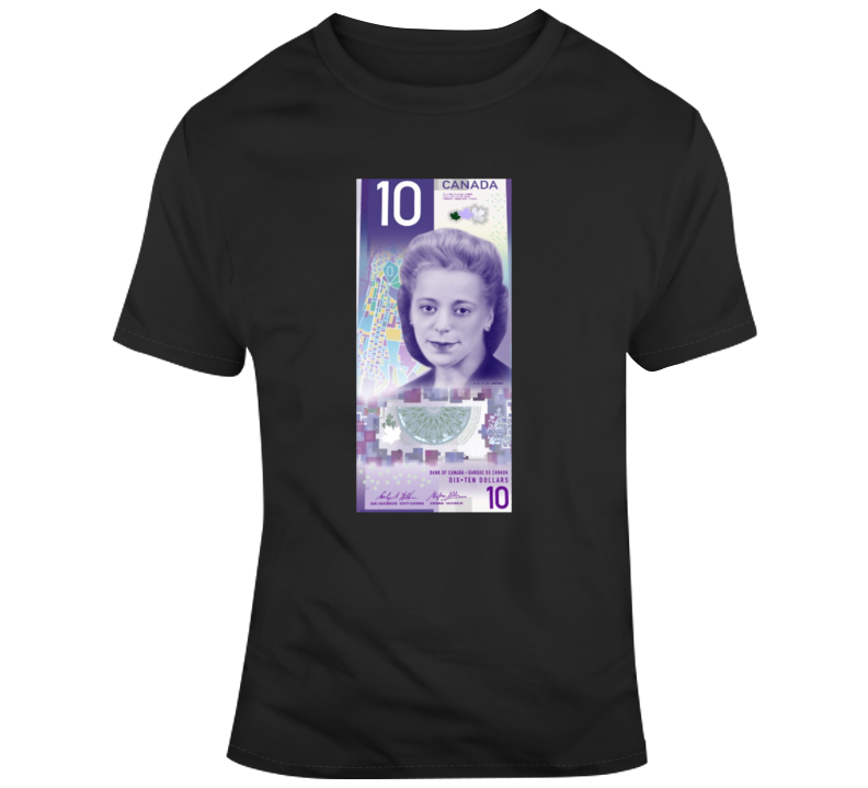 Viola Desmond 10 Dollar Bill Canadian T-shirt