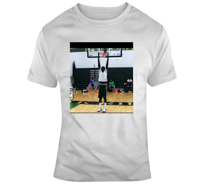 Tacko Fall Ucf Hanging From The Rim Parody T-shirt