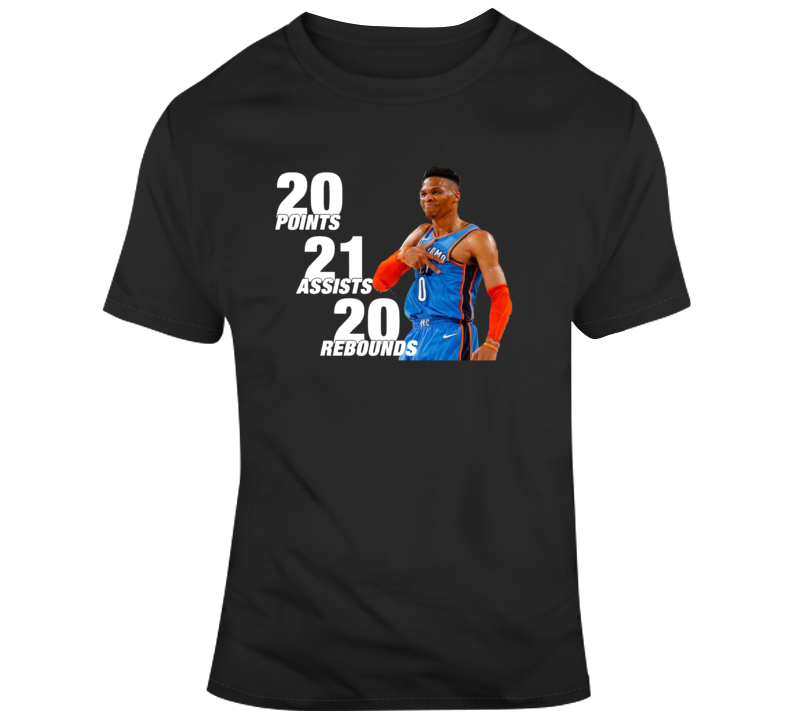 Russell Westbrook 20 20 20 Game T-shirt