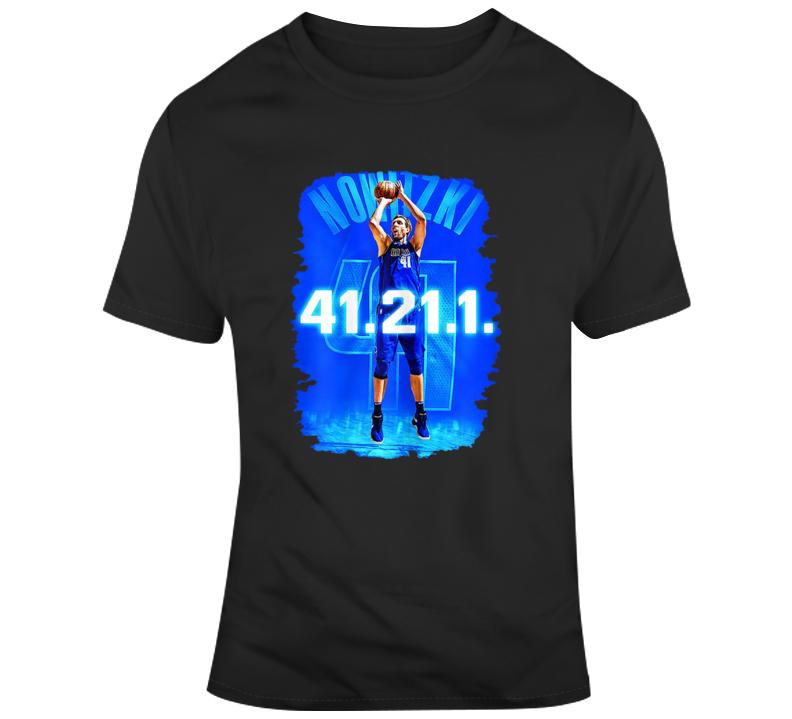 Dirk 41 21 1 Dirk Nowitzki Career Retired T-shirt T Shirt