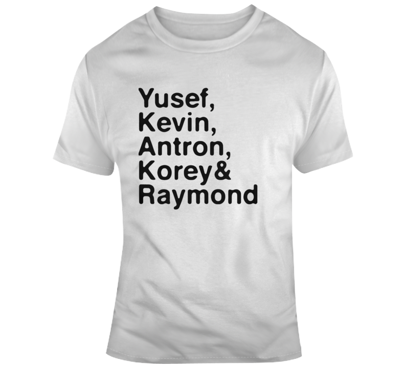 Yusef, Kevin, Antron, Korey, Raymond When They See Us Central Park 5 T Shirt