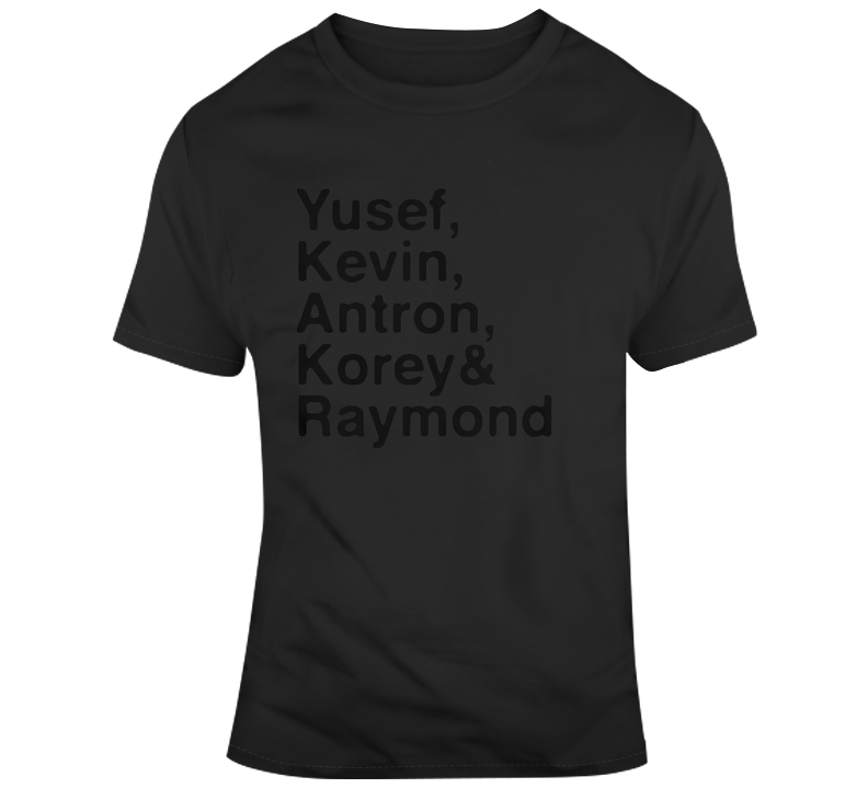 Central Park 5 Yusef, Kevin, Antron, Korey, Raymond When They See Us T Shirt