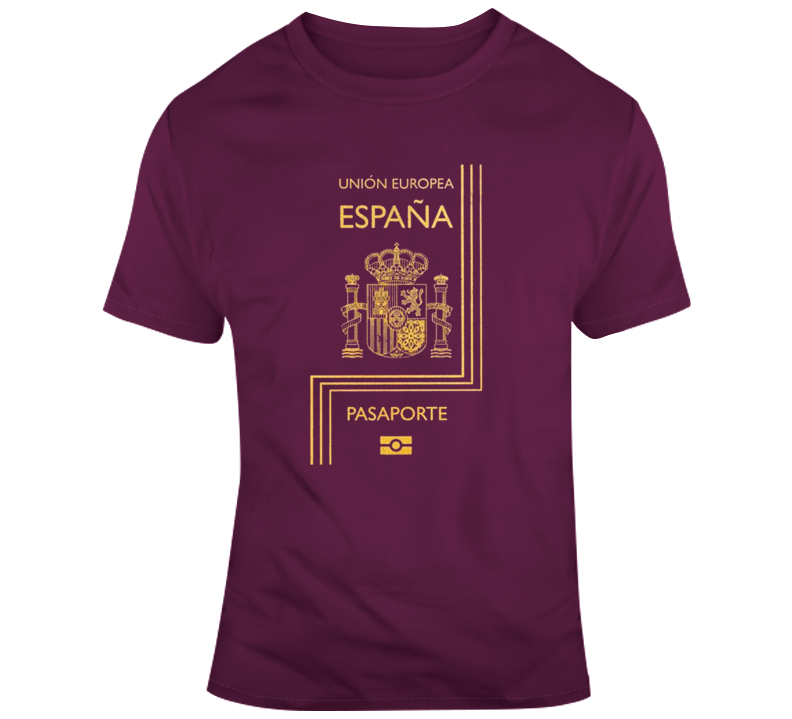 Spanish Passport Travelling T Shirt