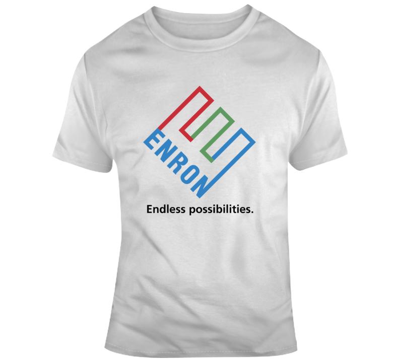 Enron Endless Possibilites Company Logo T Shirt