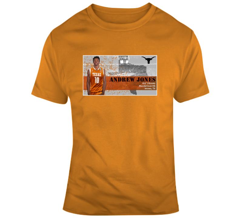 Andrew Jones Texas Longhorn Fan Support T Shirt