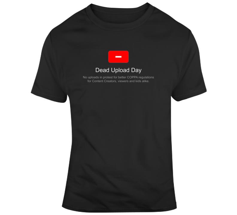 Youtube Vs Coppa Youtube Protest Dead Upload Day Fan T Shirt