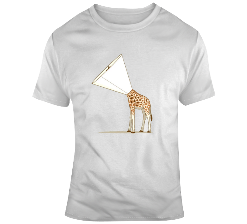 Funny Giraffe Itchy Worn Look Parody T Shirt