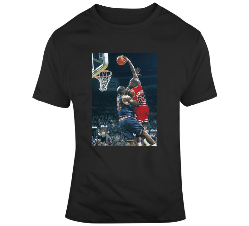 Jordan Dunking On Lebron Parody Fan T Shirt