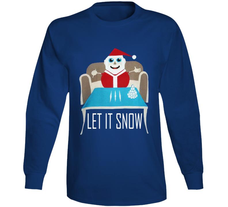 Walmart Let It Snow Sweater Santa Clause T  Parody Long Sleeve