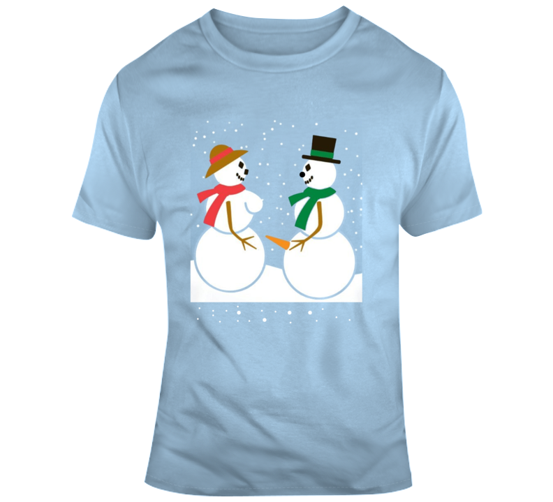 Walmart Snow Couple Adult Funny Parody T Shirt