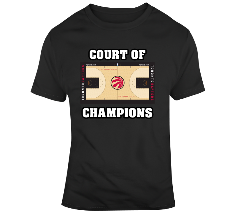 Toronto Raptors Home Court Scotiabank Arena Court Of Champions T Shirt