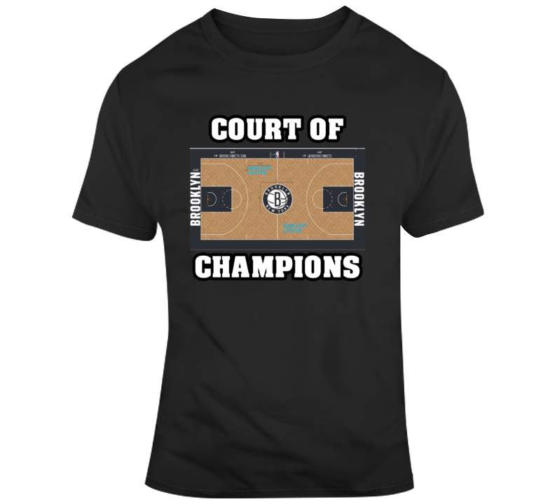 Brookyln Nets Home Court Barclarys Arena Court Of Champions T Shirt