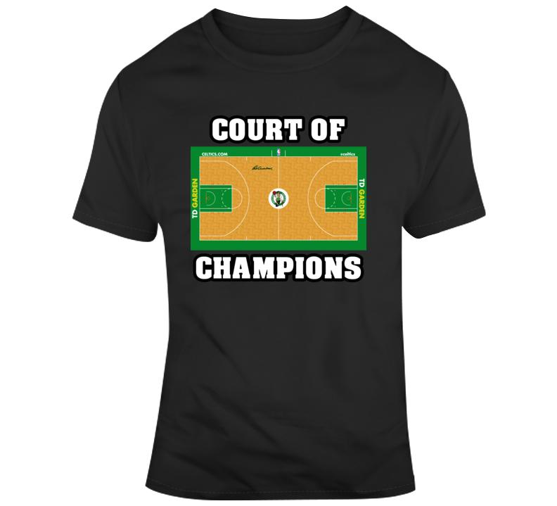 Boston Celtics Home Court Td Garden Court Of Champions T Shirt