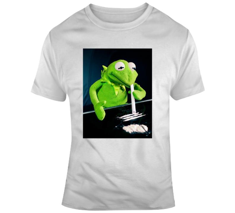 Kermit Cokehead Parody T Shirt
