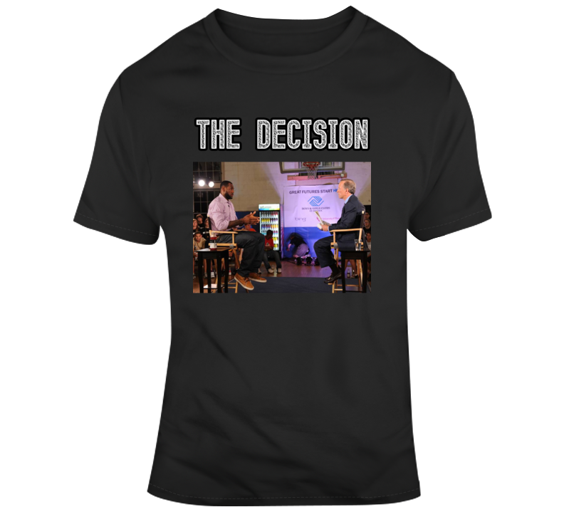 Lebron James The Decision Interview T Shirt
