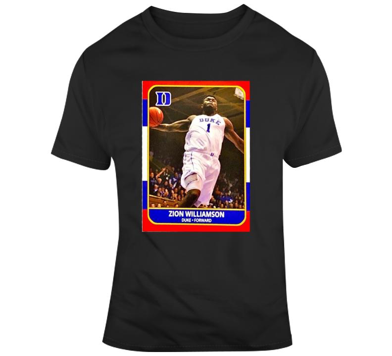 Zion Williamson Retro Vintage College Basketball Card T Shirt