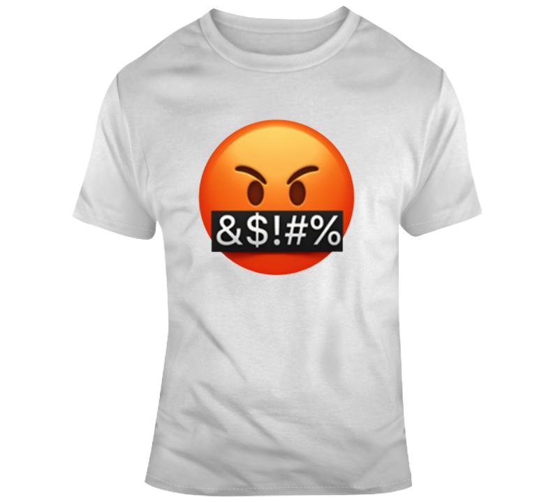 Swearing Emogi Parody T Shirt