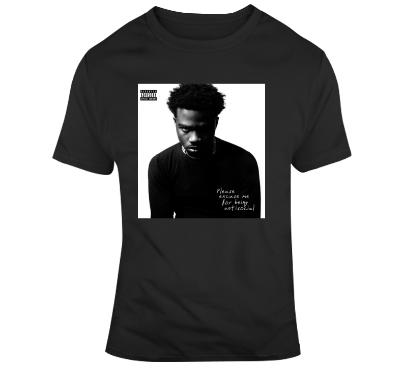 Roddy Rich Album Cover Please Excuse Me For Being Antisocial Hip Hop T- T Shirt