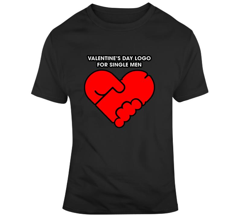 Funny Valentines Day Logo Single Men Parody T Shirt